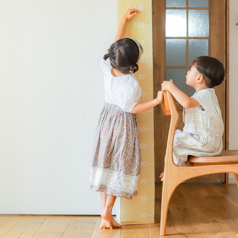 商品紹介 シンプル可愛い 家族で使える *身長計タペストリー *