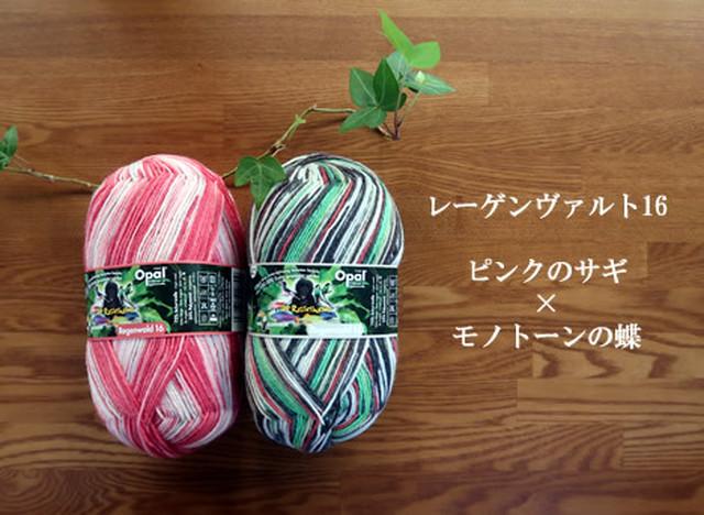 レーゲンヴァルト16 ピンクのサギ【オパール毛糸】