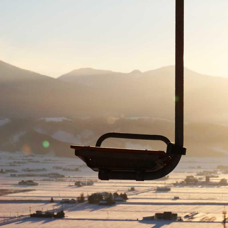 中富良野町の北星山スキー場のリフト