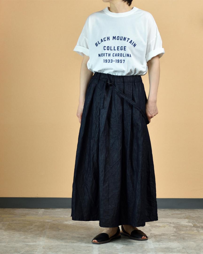 (g) グラム  ライトデニムワンショルダースカート