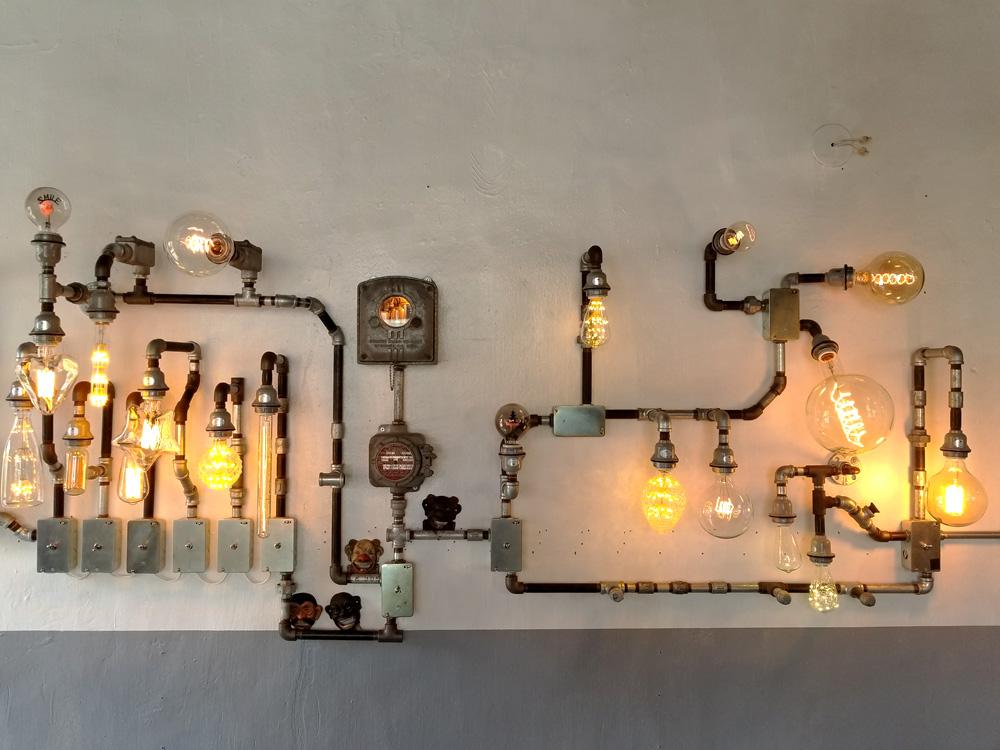 工業系デザインの照明器具のお店