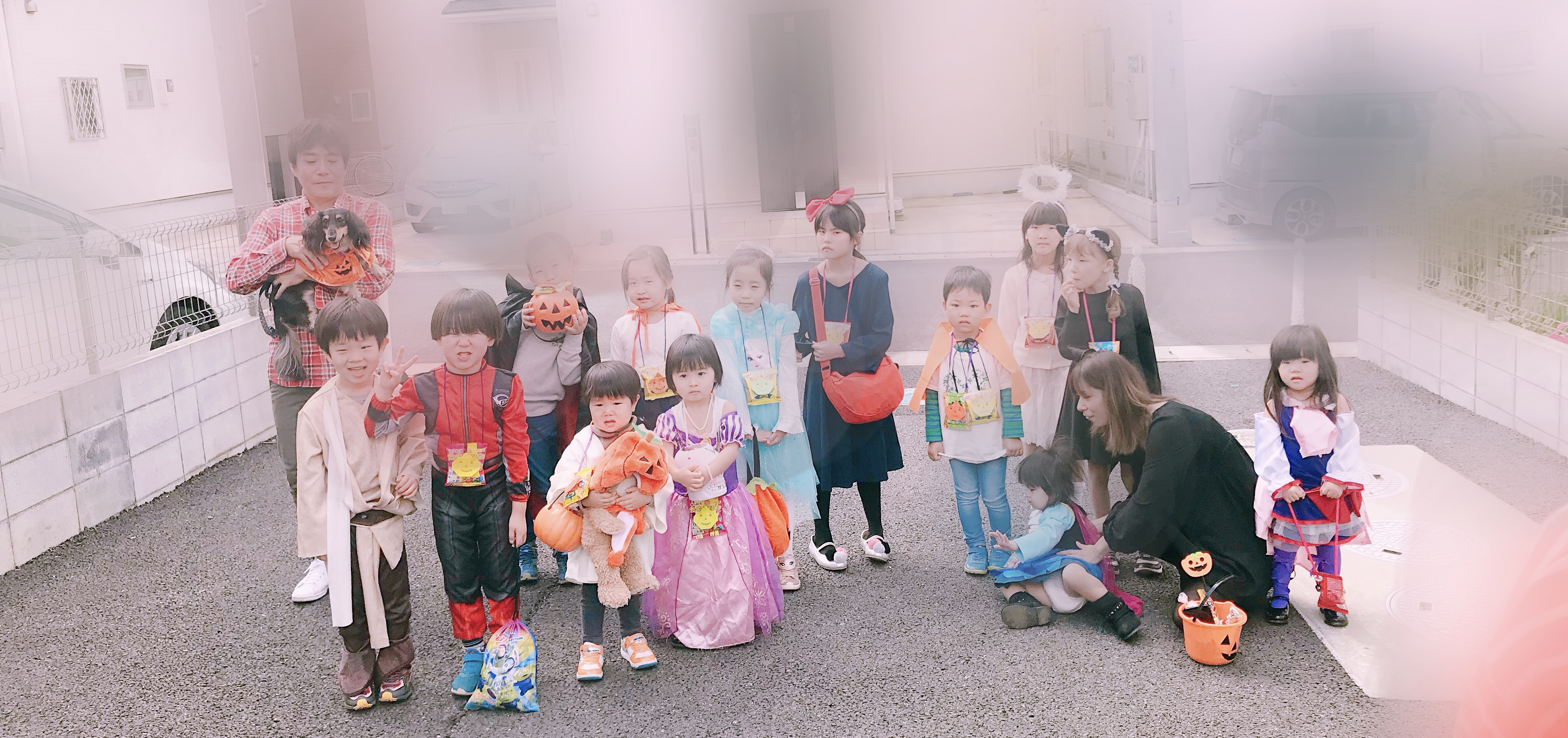 Halloween parade in localcommunity