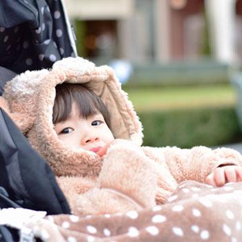 寒い時期のお出かけに♥モコモコかわいいベビーアウター