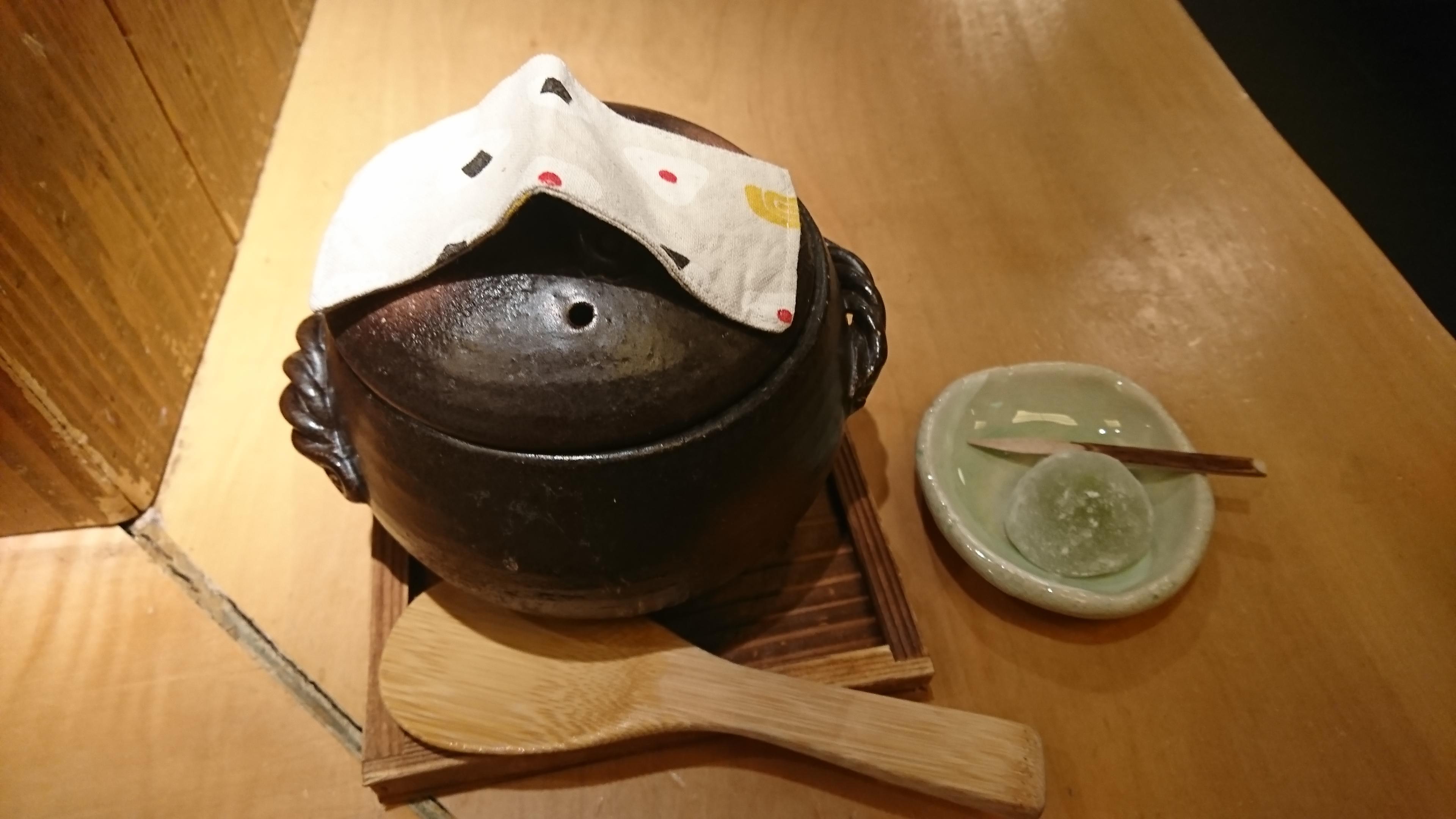 制作中! 一人用のご飯を炊く鍋