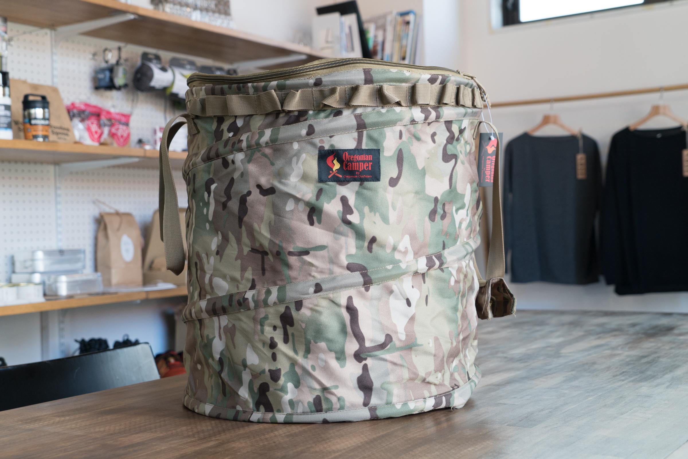 Oregonian Camper ポップアップ式ゴミ箱でキャンプのゴミをスマートにポイっ!