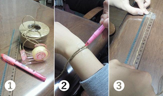 ブレスのサイズの測り方