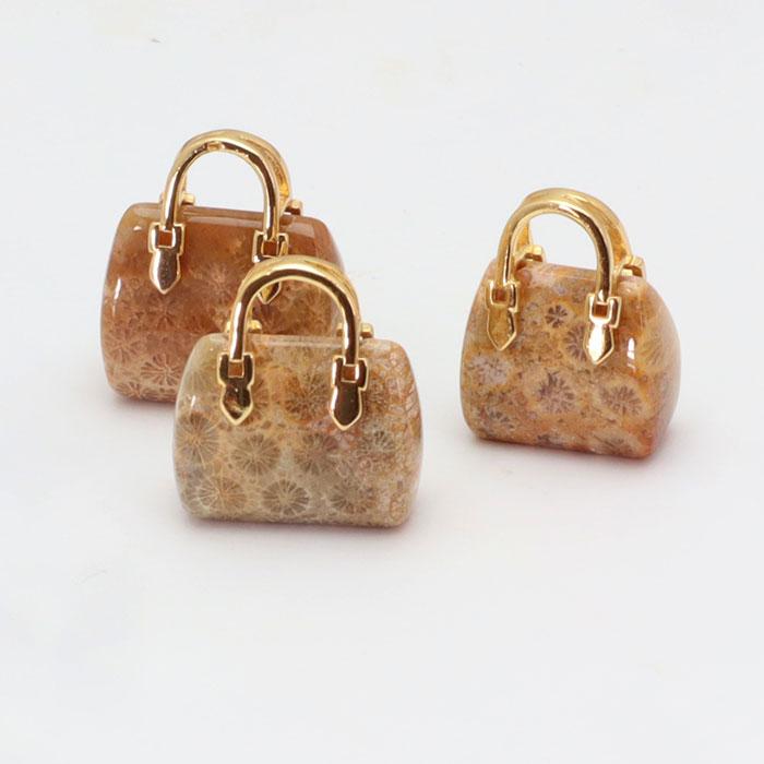 天然石のかわいいバッグチャーム入荷!