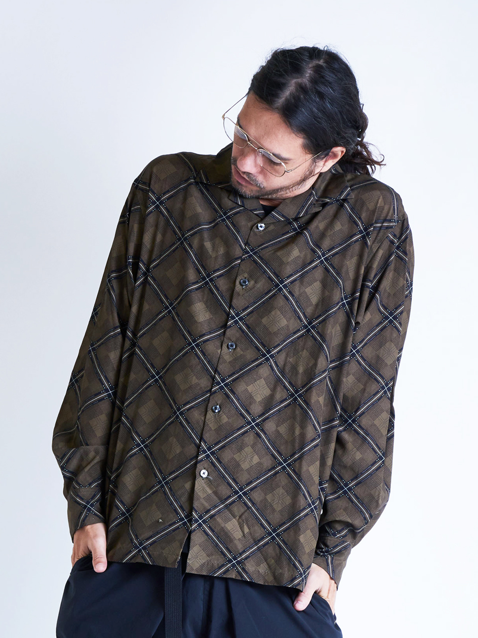 EGO TRIPPING | RHOMBUS PATTERNED SHIRTS