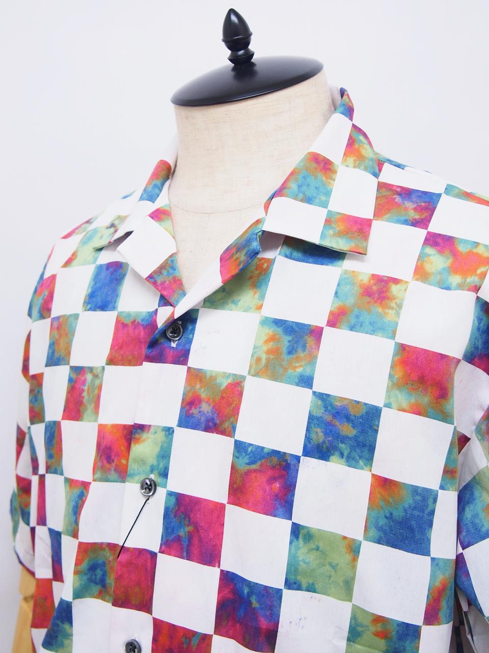O U R E T | 切替オープンカラー半袖シャツ