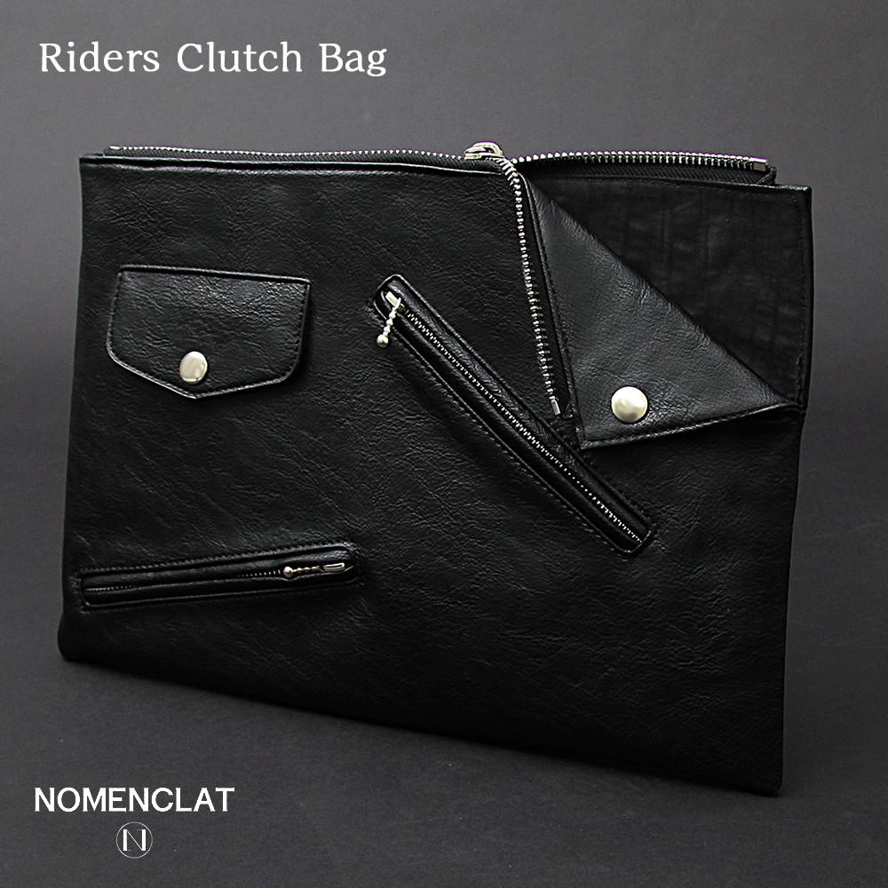 【 NOMENCLAT ノーメンクラート 】ライダース クラッチバッグ