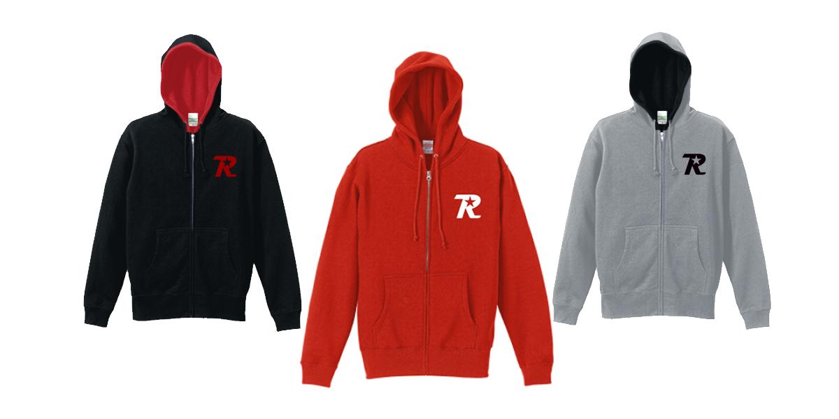 オンラインショップ限定 R-logo Breast ジップパーカーが3色追加されました。