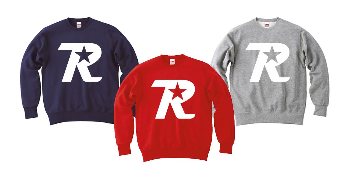 オンラインショップ限定 R-logo スウェットが3色追加されました。
