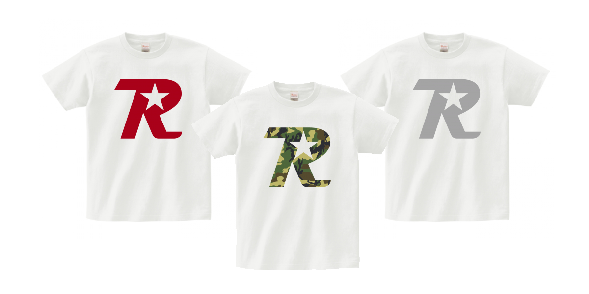 オンラインショップ限定 R-logo Tシャツが3色追加されました。