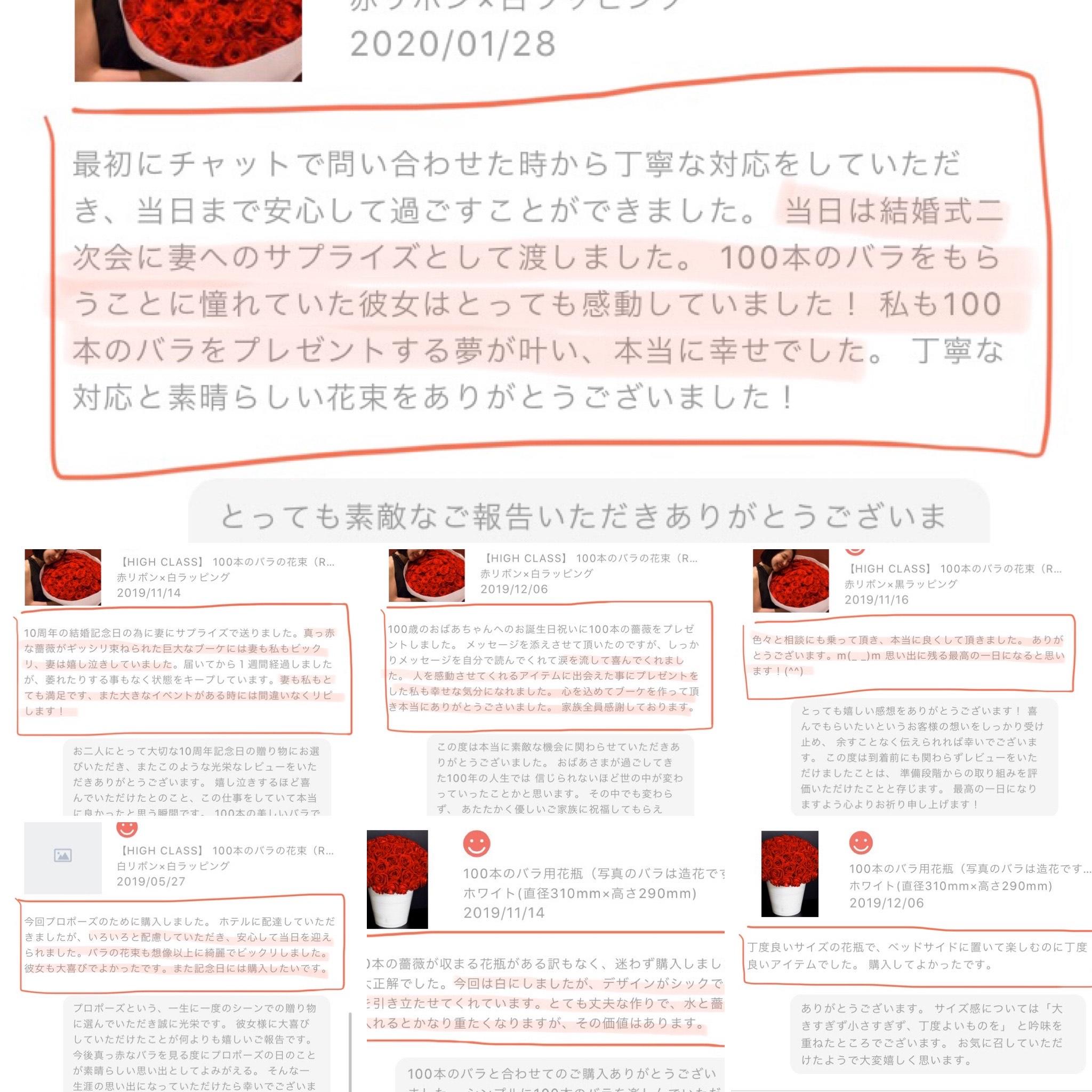 お客様の声/レビューまとめ(2020年2月時点)