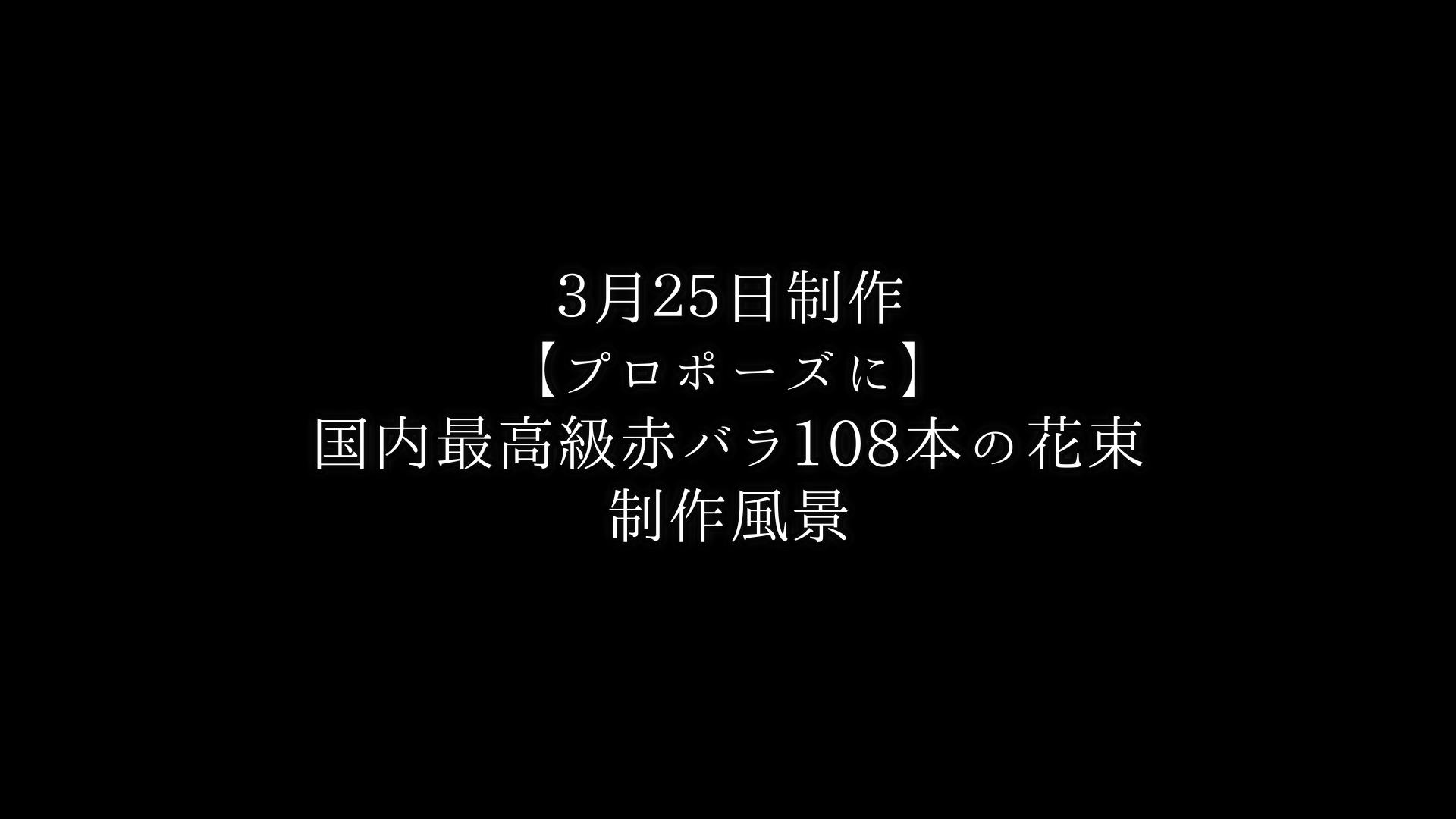 【プロポーズに】バラ108本の花束制作動画 2021/03/25撮影