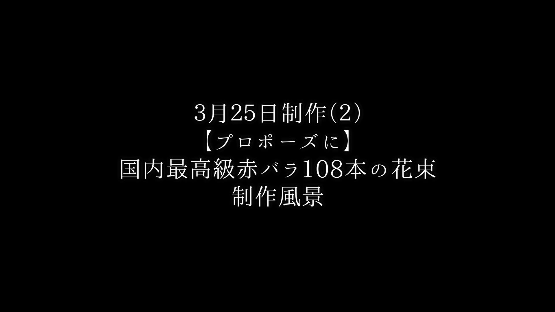 【プロポーズに】バラ108本の花束制作動画 2021/03/25撮影(2束目)