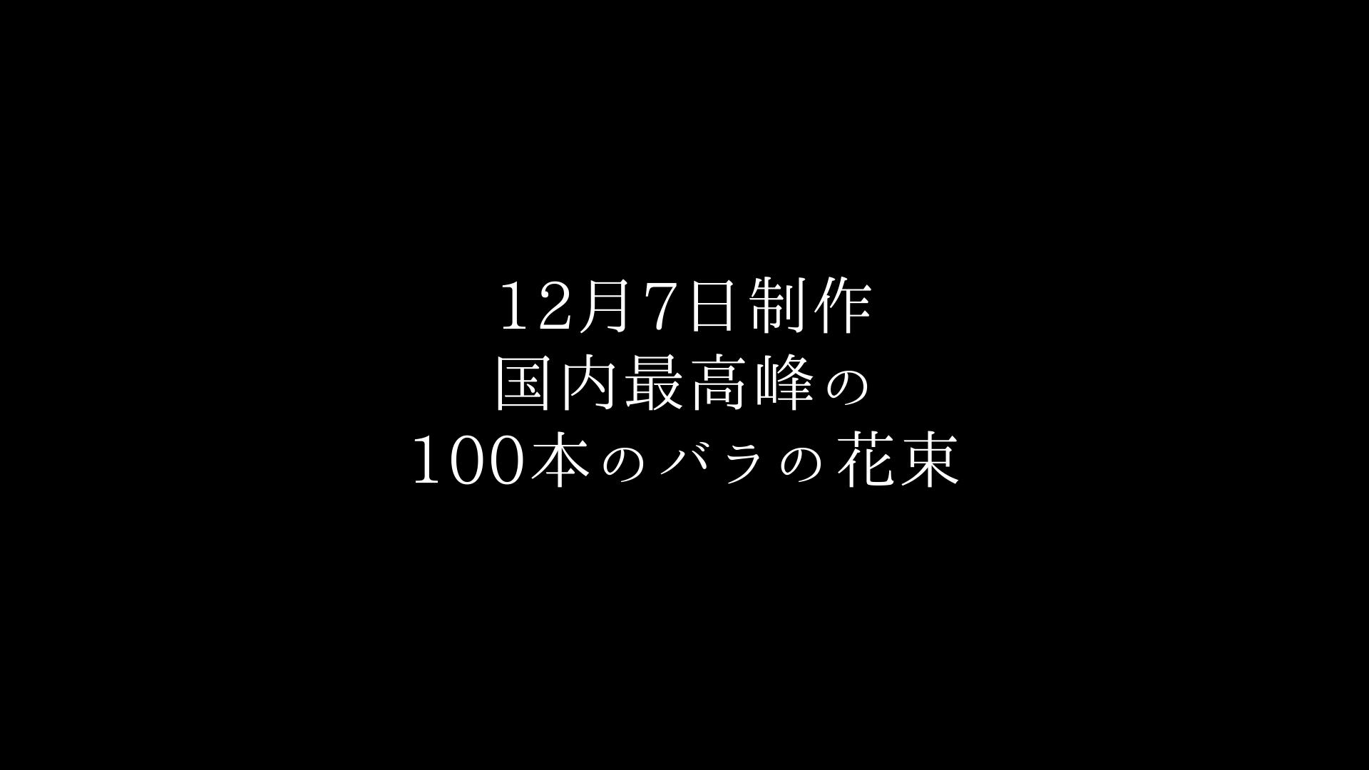 国内最高峰のバラ100本の花束制作動画 2020.12.07撮影