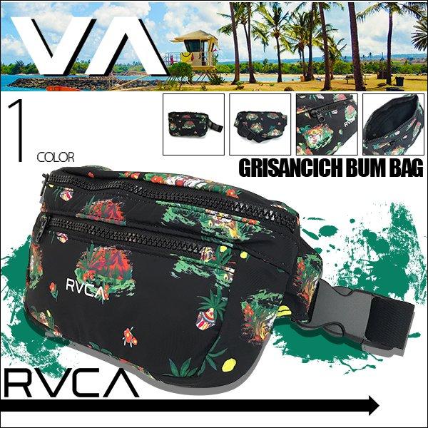 ベルトの長さが変更出来るRVCAのロゴが大胆にプリントされたウエストポーチ🌈BEACHDAYS
