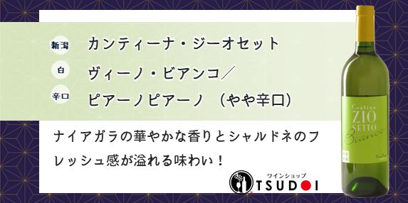【商品紹介】新潟 カンティーナ・ジーオセット  ヴィーノ・ビアンコ/ピアーノピアーノ