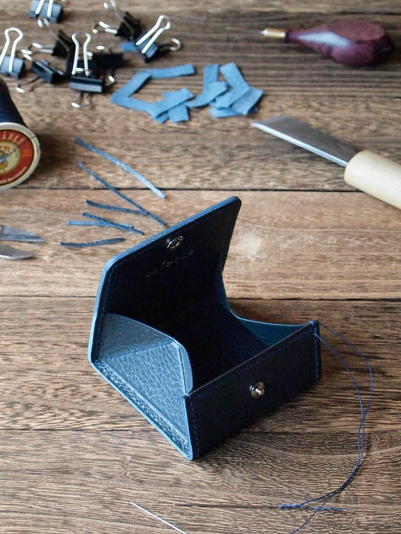 手縫い仕立てのボックス型コインケース製作②