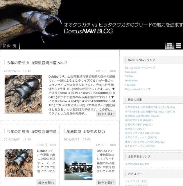 Dorcus NAVIブログにて新成虫の詳しい情報をアップしています🎵