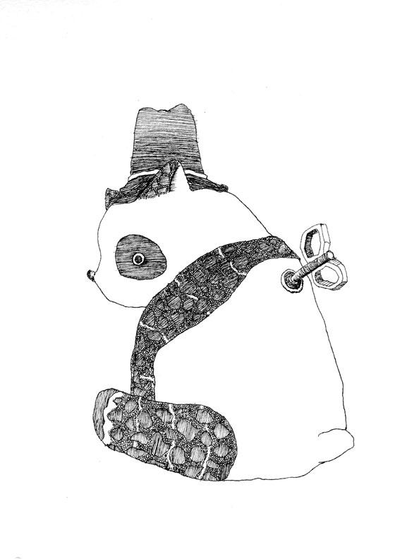 【モノクロ】パンダ