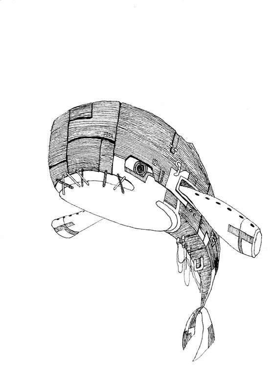 【モノクロ】くじら