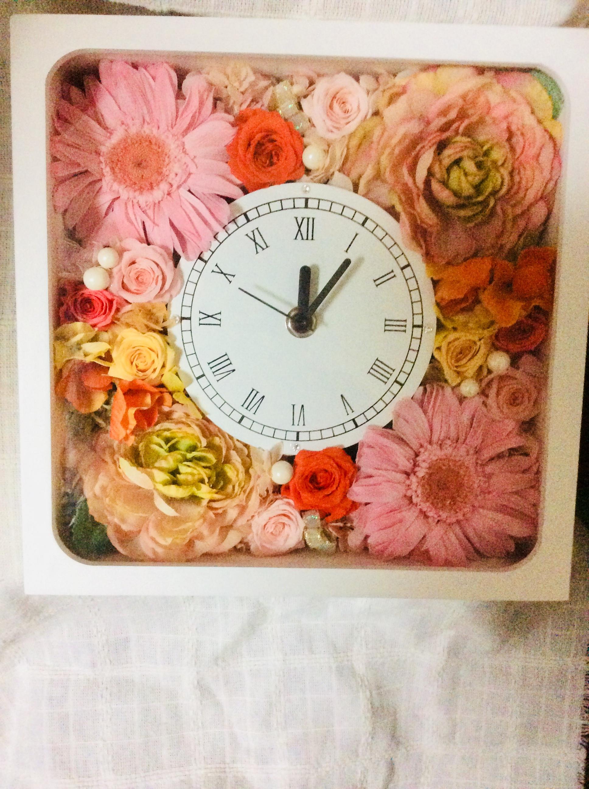 新しいスタートのお祝い【華花時計】真心のギフト