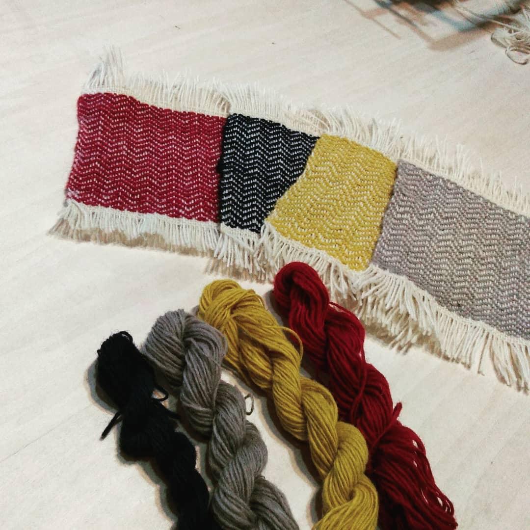 ヘリンボーン織りのワークショップ