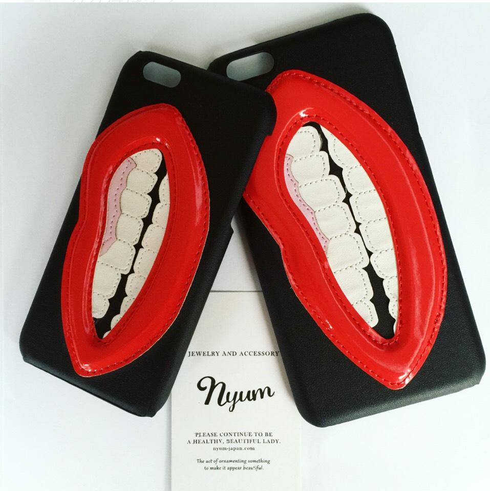 【iphone6/6s・6plus/6splus向け-スマホカバー】唇(リップ)iphoneケース