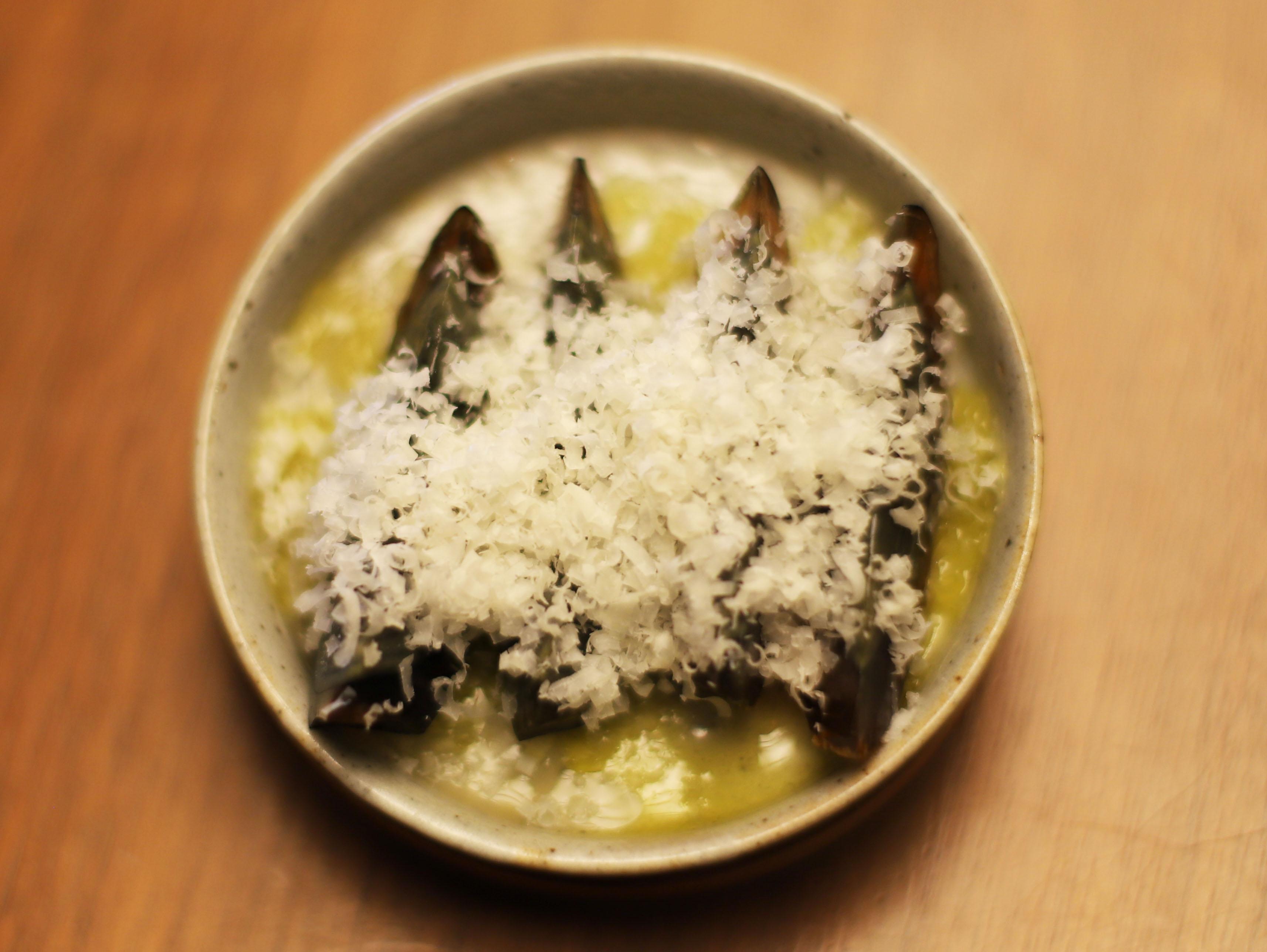 酒喜惣菜レシピ「ピータンとパルミジャーノ」