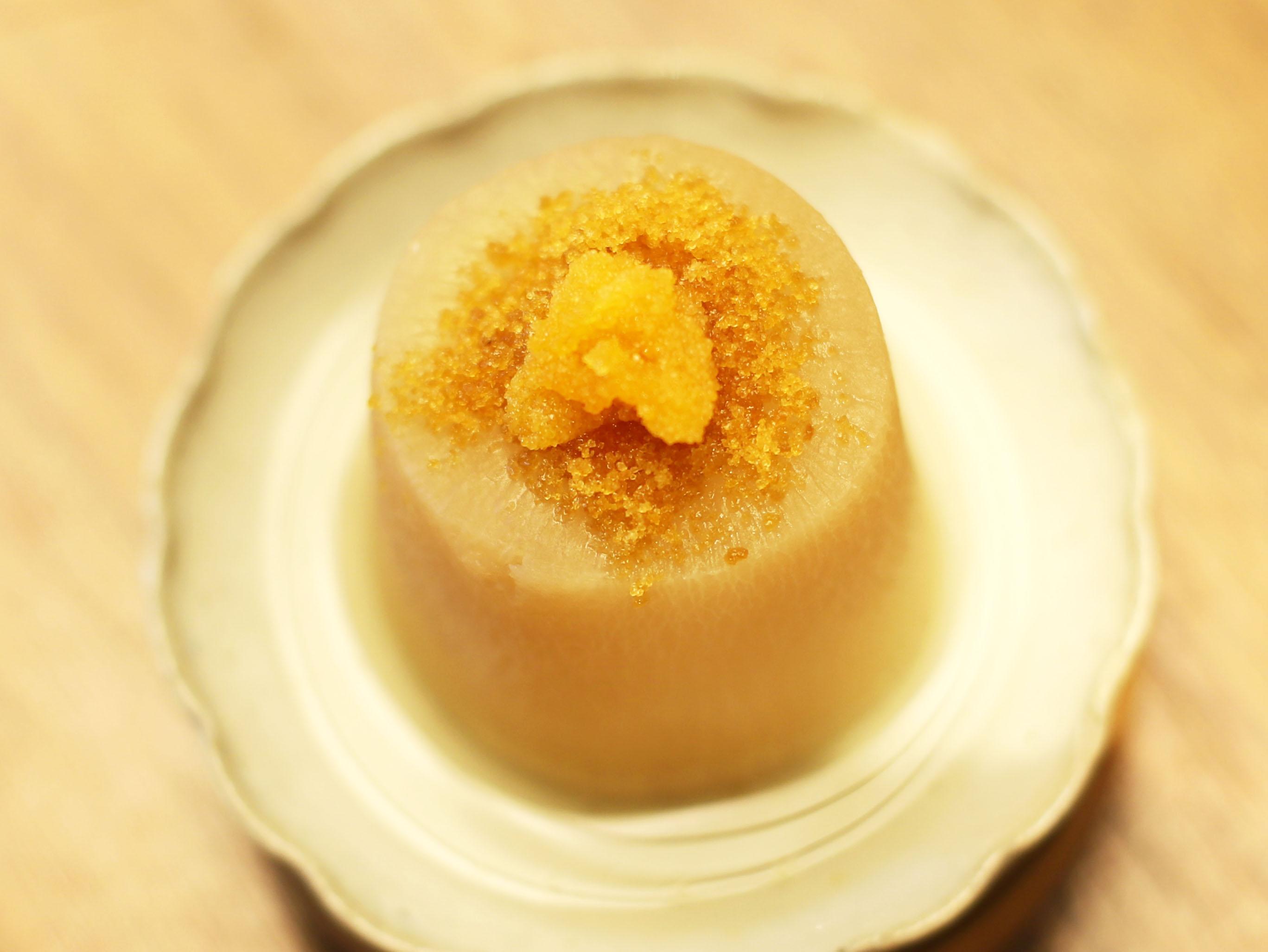 酒喜惣菜レシピ「カラスミ大根(塩おでん)」