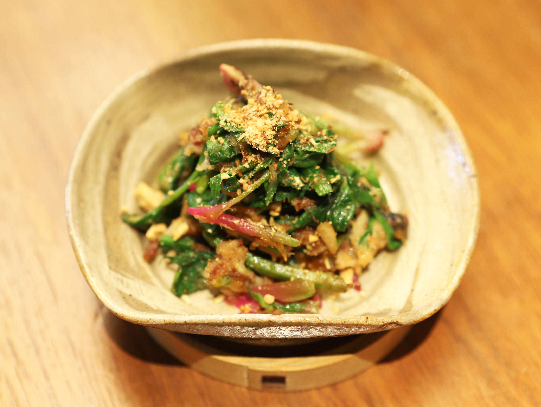 酒喜惣菜レシピ「サバとほうれん草のからし和え 」