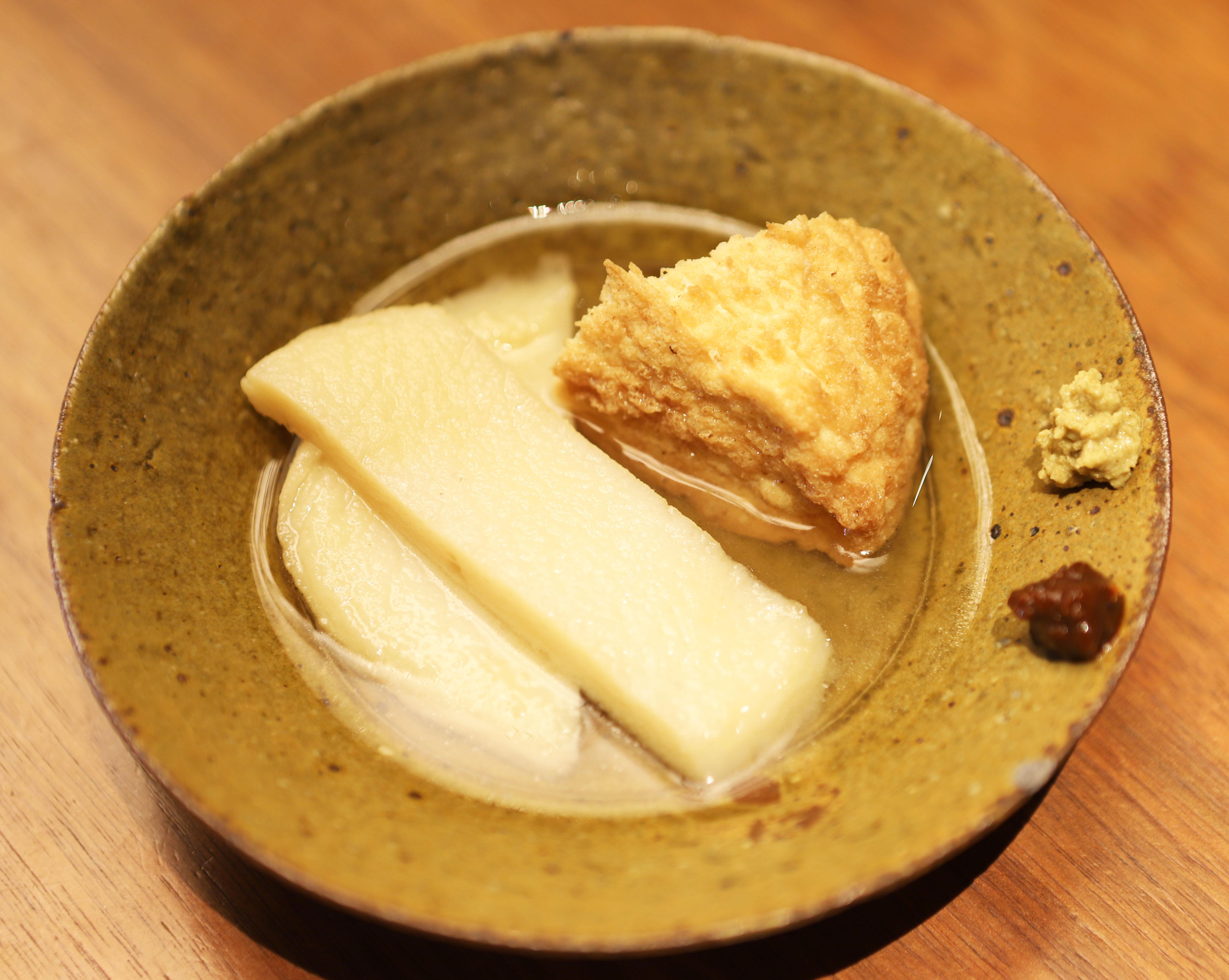 酒喜惣菜レシピ「博多丸天&まぼろしの厚揚げ(塩おでん)」