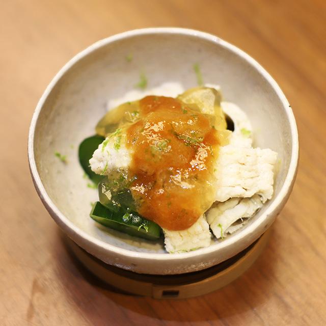 酒喜惣菜レシピ「穴子と胡瓜の酢の物 」