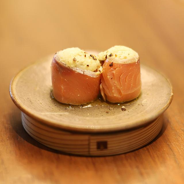 酒喜惣菜レシピ「鮭ハムおから寿司 」