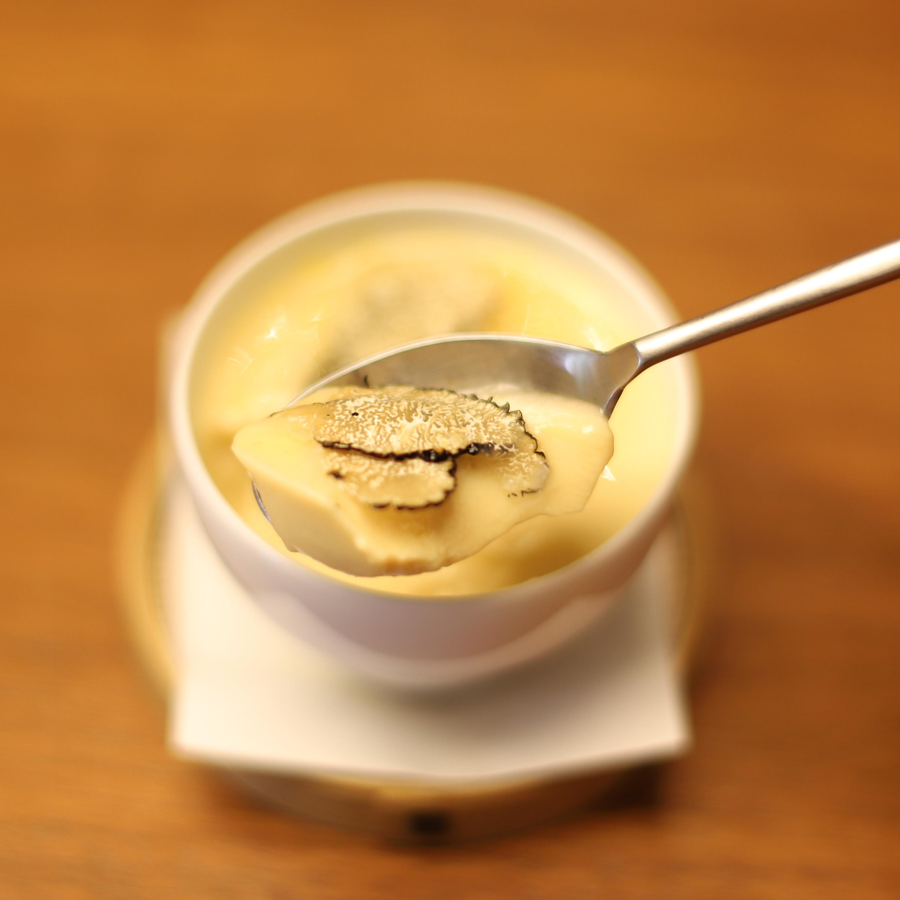 酒喜惣菜レシピ「冷たいトリュフ茶碗蒸し」