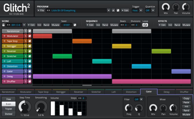 クレイジーなサウンドを生み出すプラグインGlitch 2の使い方