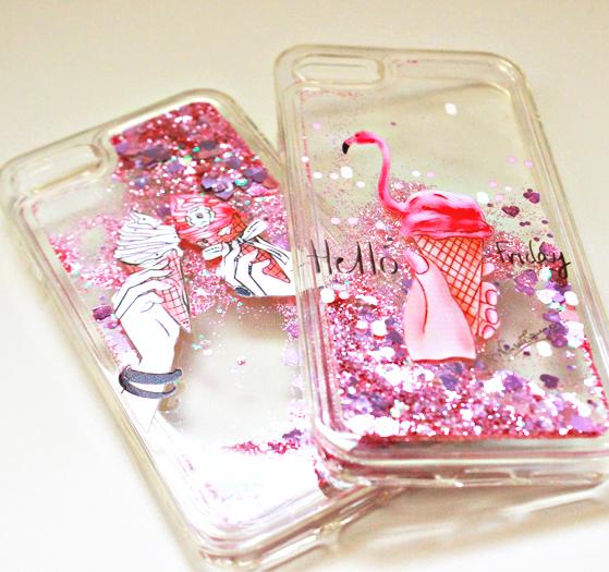 キラキラかわいい♥人気のフラミンゴ&アイスクリーム!!夏にピッタリな涼しげ透明iPhoneケース♪