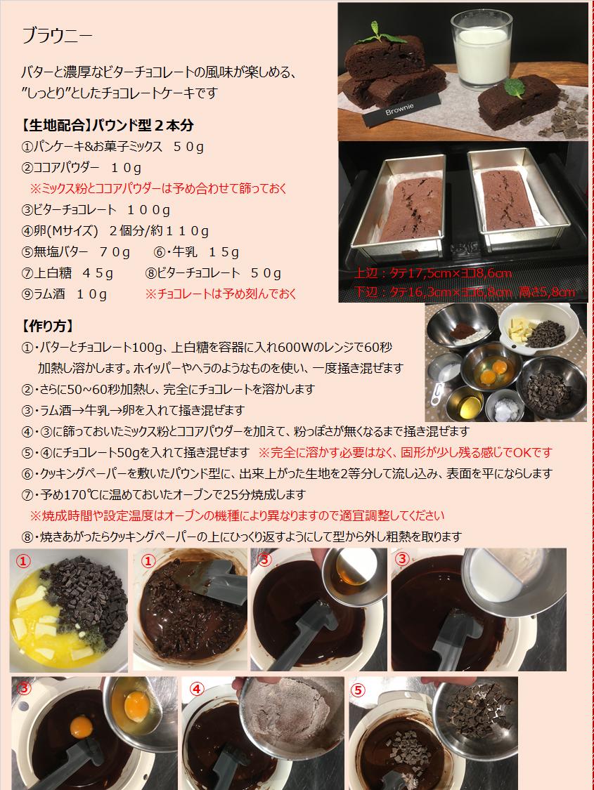 パンケーキミックスレシピNo.20「ブラウニー」