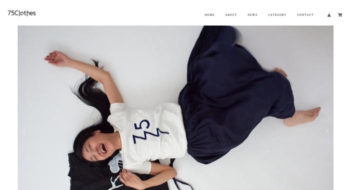 📯「75Clothes」オンラインショップを新たに開設リニューアルしました。