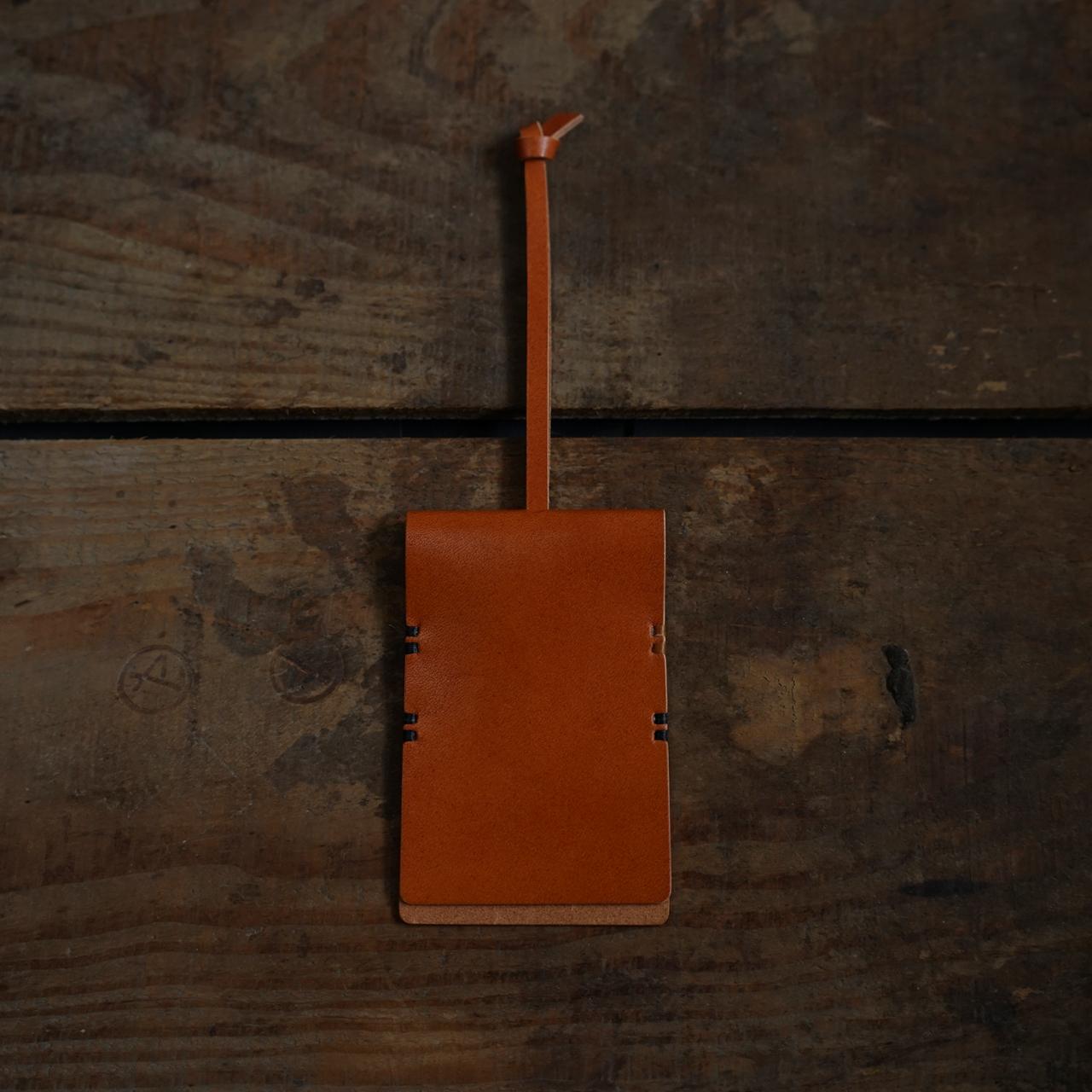 【縫い糸のカスタマイズ】鍵袋 柿渋染 + 縫い糸「黒と黄」