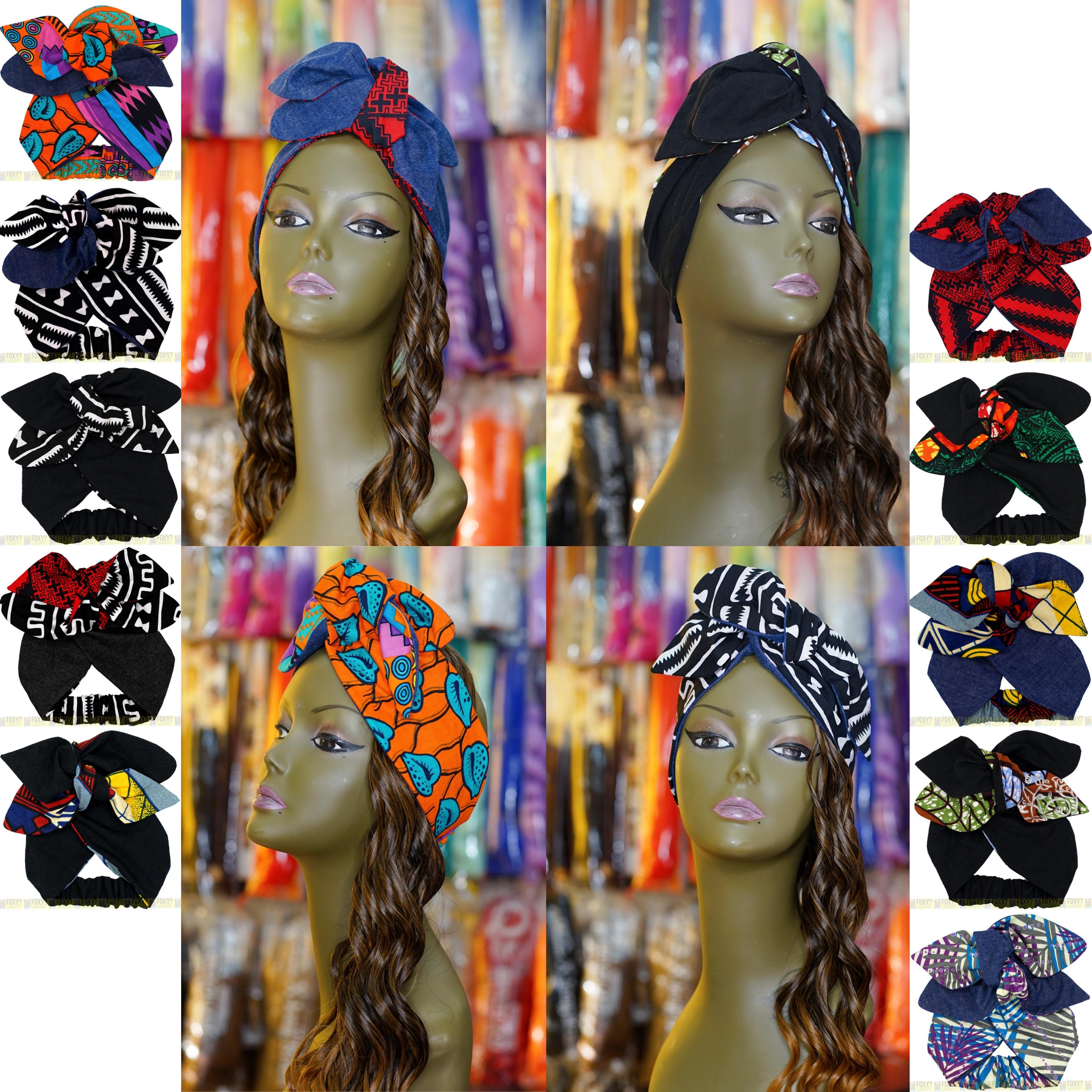 【次回休業日8/6】〜午前8時までのご注文 土日も即日発送 新作 アフリカ布のヘアバンド