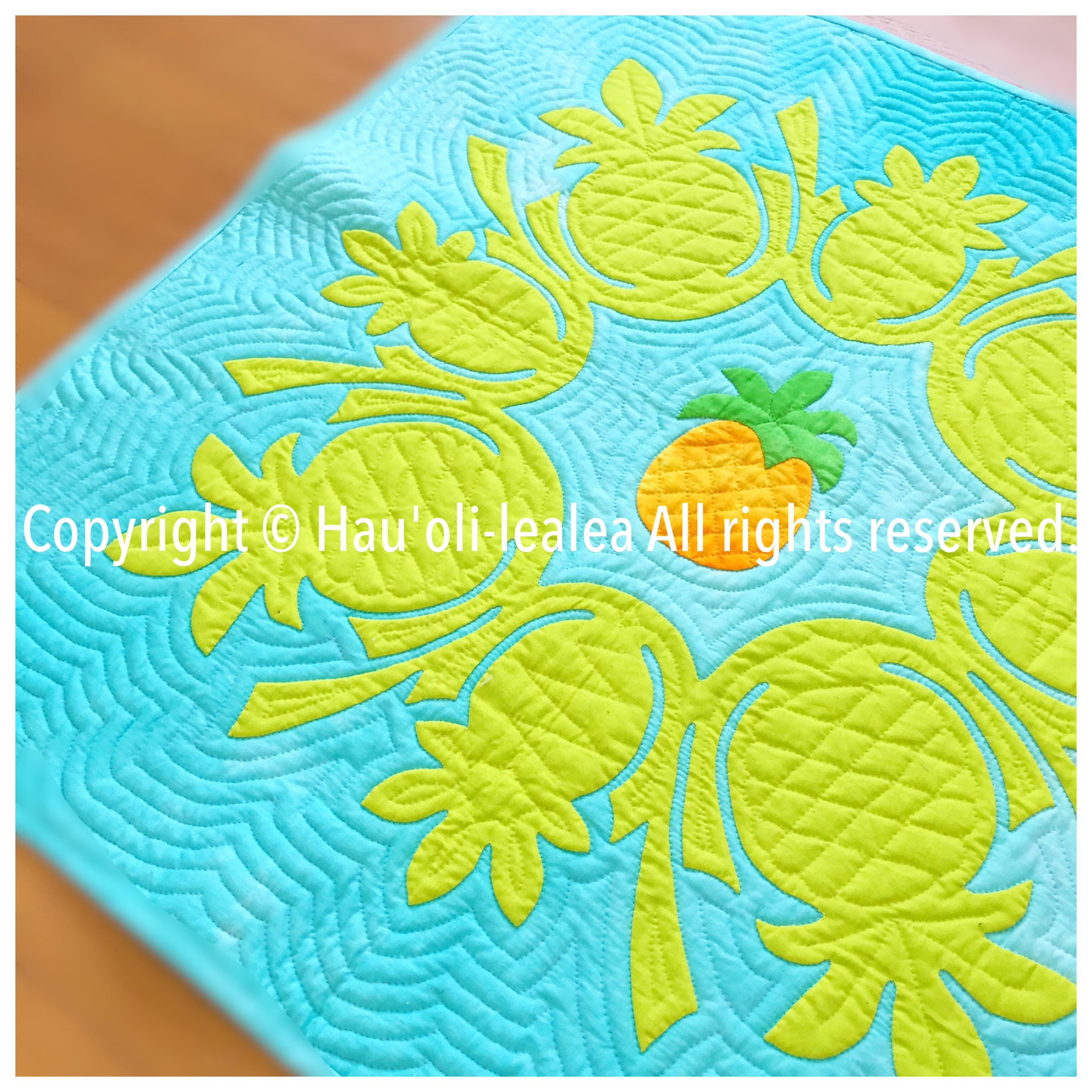 パイナップルのタペストリー * キット&パターン 追加致しました!