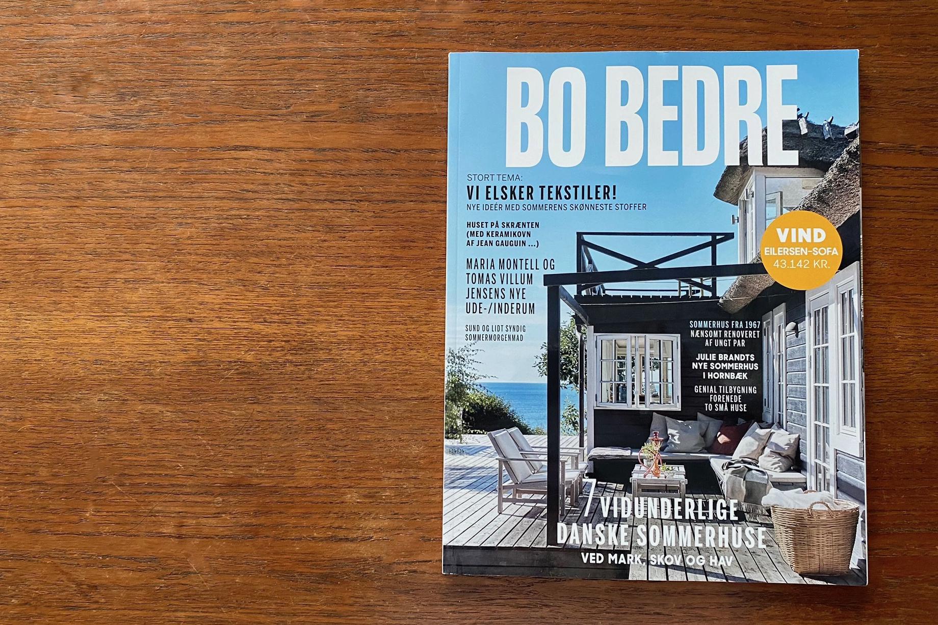 デンマークのインテリア雑誌、BO BEDRE の最新号が届きました
