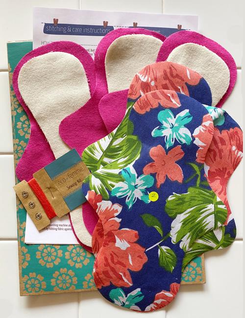 針と糸付き手作りキットで布ナプキンを作ろう