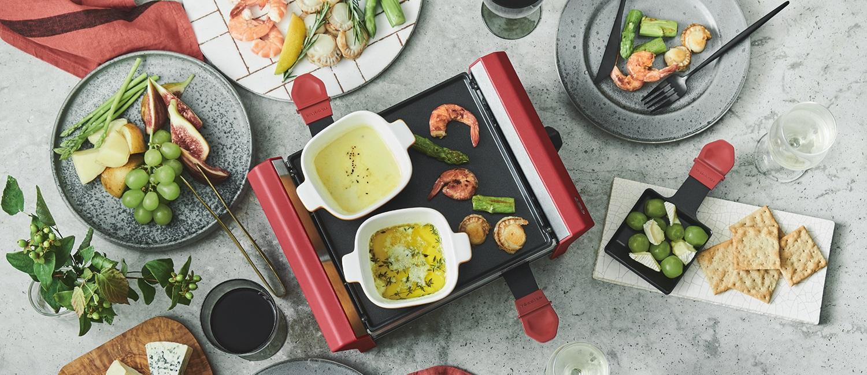 おウチでenjoy!!ラクレット:卓上ラクレットオーブンに大きめサイズが加わりました。