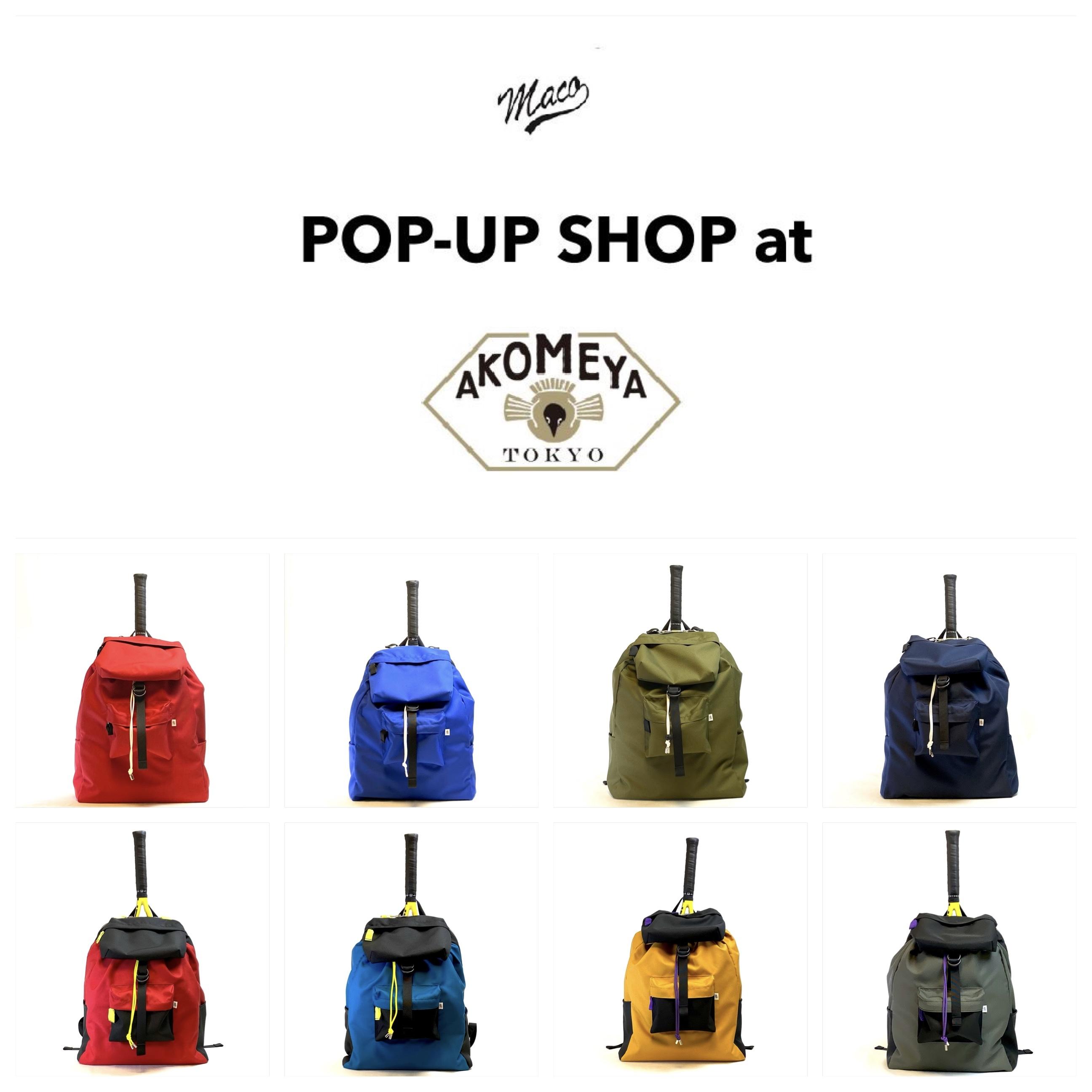 Pop up shop at AKOMEYA TOKYO スタートします!
