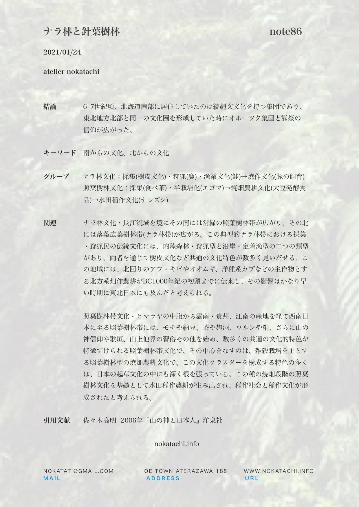【レポート】ナラ林と針葉樹林