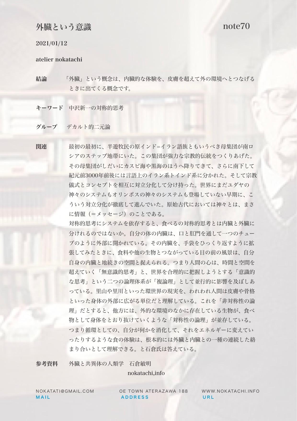 【レポート】外臓という意識